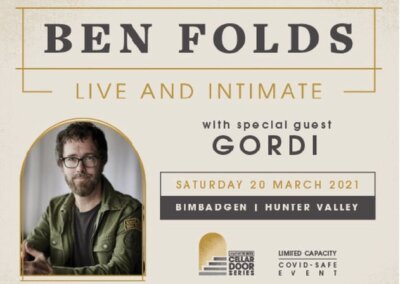 Ben Folds, Bimbadgen Hunter Valley – 20th Mar 2021