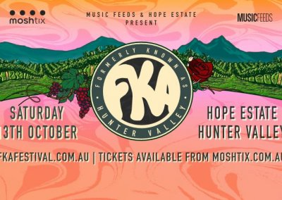 FKA Music Festival, Hope Estate – 13th Oct 2018