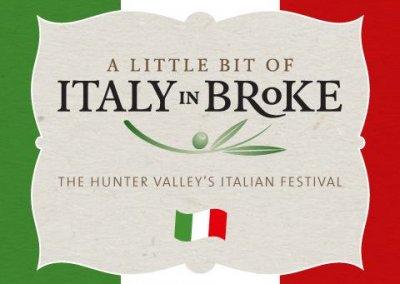 A Little Bit of Italy in Broke – 13th & 14th Apr 2019