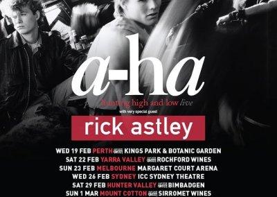 a-ha & Rick Astley, Bimbadgen – 29th Feb 2020